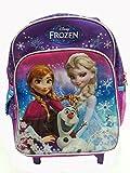 Disney Frozen Mini 12 Rolling Backpack(included X1 Plastic Pencil Case)