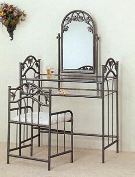 3 pc nickel bronze finish bedroom vanity make up sets