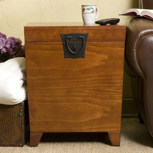 Southern Enterprises Wood Trunk End Table