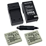 2 Battery+Charger for Canon PowerShot Digital ELPH SD750 / SD780 IS / SD940 IS / SD960IS / SD1000 / SD1100 IS / SD1100IS / TX-Series TX1