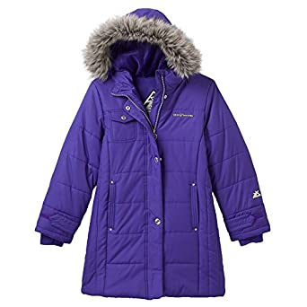Amazon.com: ZeroXposur purple long Puffer Jacket - Girls 7