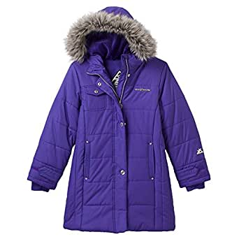 Amazon.com: ZeroXposur purple long Puffer Jacket - Girls 7