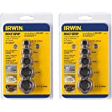 Irwin Tools BOLT-GRIP Extractor Expansion Set, 5 Piece, 394002 Pack of 2 (Tamaño: Pack of 2)