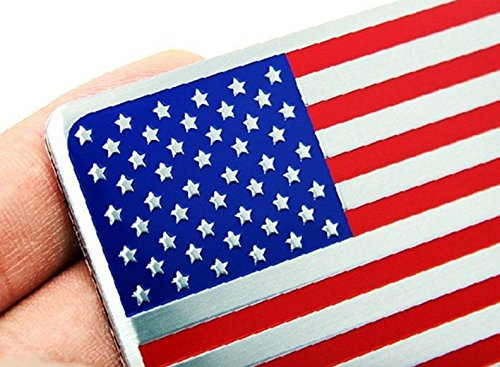 2PCS Alloy USA AMERICAN Flag Badge Emblems Sticker for Auto car Rear Sides Decors 3D (3 Inch Suspension Lift Chevy 1500 compare prices)