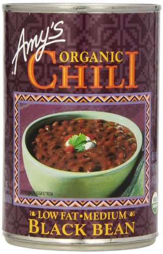 Amy's Organic Chili, Low Fat Medium Black Bean, 14.7 Ounce (Pack of 6) (Amy Organic Chili compare prices)