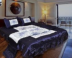 Rangsthali Designer home dcor printed Double Bed Wedding Bedding set ( Set of 4 pcs) Diwali Offer