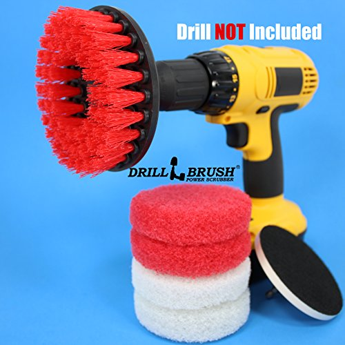 Hard Water Stain Remover, Mineral Deposit, Soap Scum Bathroom Power Brush and Scour Pad Kit (Bathroom Power Brush compare prices)