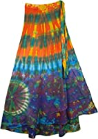 "TLB - Hotice Cotton Wrap Around Skirt - L: 40"" Max. ; W: Wrap Around Free"