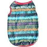 Alcoa Prime Fashion Dog Summer Multicolor Strip Vest Ventilation Pet T-Shirt Color Puppy Sleeveless Vest Clothes...