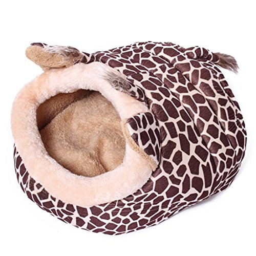 corner-biz-pet-deluxe-giraffe-shape-house-kennel-cozy-cave-dog-cat-bed-small