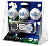 North Carolina Tar Heels 3 Golf Ball Gift Pack with Keychain and Divot Tool
