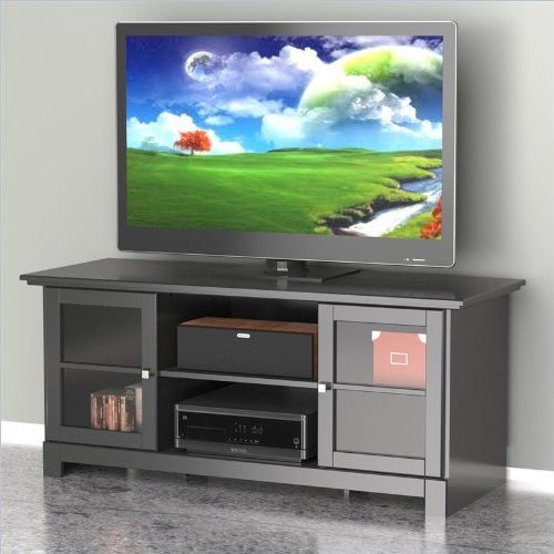 Nexera 101306 Pinnacle Center Channel TV Stand, 56-Inch, Black picture B00A0I0ED0.jpg