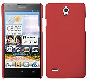 Wow Matte Rubberized Finish Hard Case For Huawei Ascend G700-red-MTG700Red
