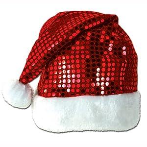Sequin-Sheen Santa Hat Party Accessory (1 count) (1/Pkg)