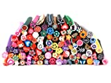 Bundle Monster 100 PC 3D Designs Nail Art Nailart Manicure Fimo Canes Sticks Rods Stickers Gel Tips