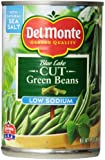 Del Monte Cut Green Beans, 50% Less Salt, 14.5-Ounce Cans (Pack of 12)