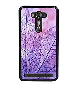 Purple Leaves 2D Hard Polycarbonate Designer Back Case Cover for Asus Zenfone 2 Laser ZE550KL (5.5 INCHES)