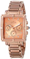 Invicta Womens 14872 Wildflower Rose Gold Dial 18k Rose
