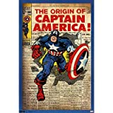 Trends Intl. Captain America Cover Poster, 24-Inch by 36-Inch