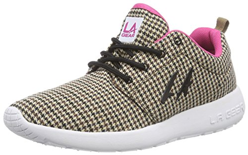 L.A. Gear Sunrise, Low-Top Sneaker donna, Beige (Beige (Beige-Brown-Pink 01)), 37