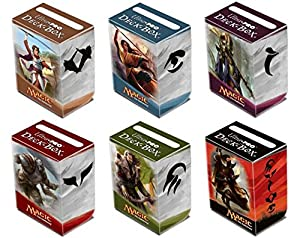 Bundle Set of Six (6) Ultra Pro Deck Boxes Featuring Magic the Gathering: Khans of Tarkir