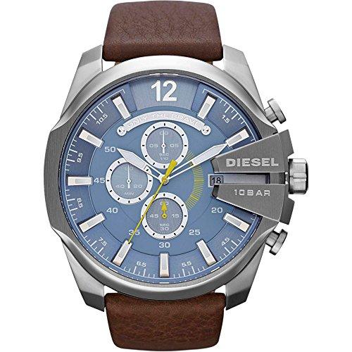 diesel-mens-dz4281-mega-chief-stainless-steel-brown-leather-watch