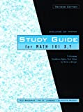 Study Guide for Math 101 X, Y to Accompany Introductory Algebra (College of Marin)