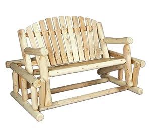 Cedarlooks 0100016 Log Loveseat Glider from Rustic Natural Cedar Furniture Co.