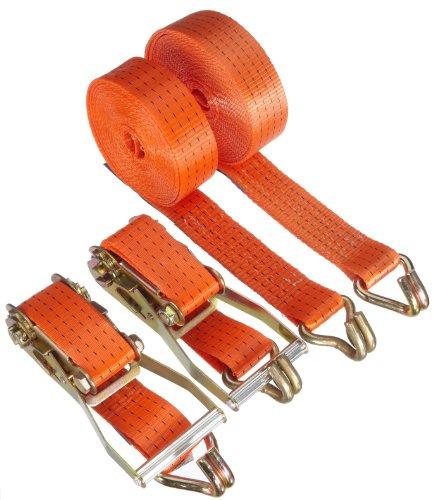 Braun-2000-2-8004030VE2-Spanngurt-4000-daN-zweiteilig-Farbe-orange-8-m-Lnge-50-mm-Bandbreite-mit-Ratsche-und-Spitzhaken