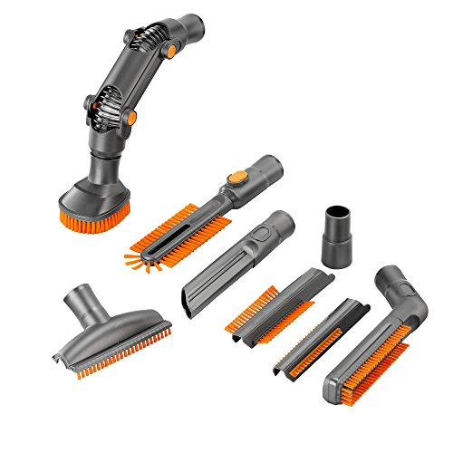 VonHaus Universal Vacuum Cleaner Attachments / Accessories for 32mm (1 1/4 inch) & 35mm (1 3/8 inch) Standard Hose - 8 Pc Crevice Upholstery Brush Tool Cleaning Kit (Bissell Vacuum Accessories compare prices)