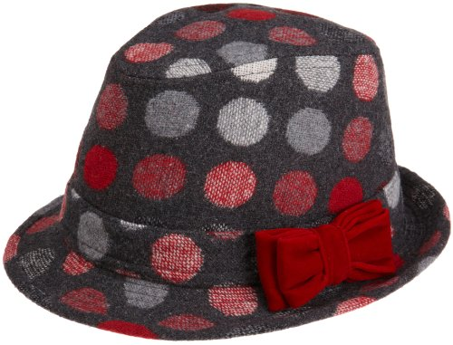 San Diego Hat Girls 2-6x Polka Dot Fedora With Bow