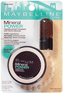 Maybelline New York Mineral Power Finishing Veil Translucent Powder, Translucent, 0.28 Ounce