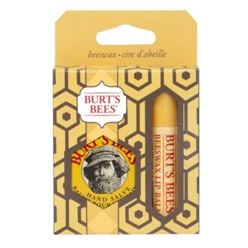 Burt's Bees Basics Boxed Gift Set: Beeswax (Beeswax Lip Balm 0.15 Oz. & Hand Salve 0.3 Oz.)