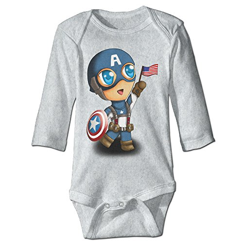 [DETED Captain Boy Cute Infant Baby's Climb Romper Size12 Months Ash] (Baby Megamind Costume)