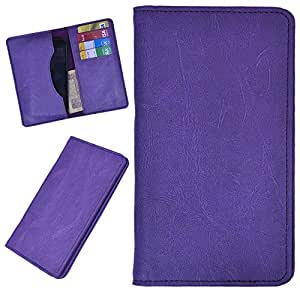 DCR Pu Leather case cover for Samsung Galaxy S5*LTE-A G901F (purple)