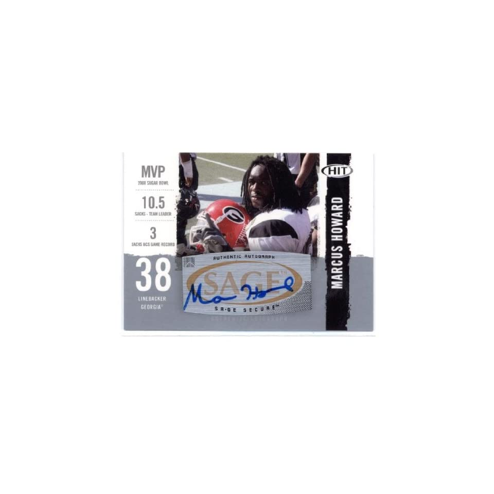 2008 SAGE HIT Autographs Silver #A38 Marcus Howard   University of