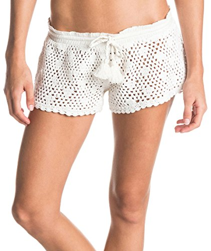 Roxy Sand Dollar Short-Pantaloncini da donna Bianco Blanco (Sand Dollar Crochet Sea Spray) XL