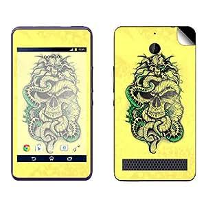 Skintice Designer Mobile Skin Sticker for Sony Xperia E1, Design - tattoo skull
