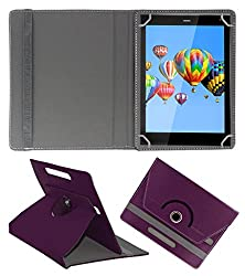 ACM ROTATING 360° LEATHER FLIP CASE FOR DIGIFLIP PRO XT811 TABLET STAND COVER HOLDER PURPLE