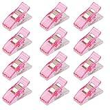 【ノーブランド品】 キルターズクリップ ミシンクリップ バインディングクリップ 裁縫用クリップ DIY 50個 ピンク