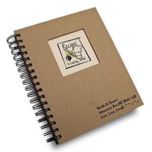 Recipes, A Cooking Journal - Kraft Hard Cover (prompts on every page, recycled paper, read more)