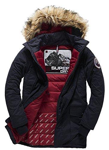 Superdry Everest Twin Peaks Jacket-Giacca Uomo    Navy XXX-Large