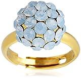 [ユンニュ・リンニュ] UNE LIGNE ミラーボールリング 指輪 ゴールド×ブルーオパール 923 AO/VO フリーサイズ