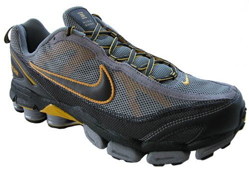 Nike Shox Junga II 2 Gray Yellow Mens Running Shoes