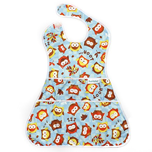 Bumkins Waterproof Supersized Superbib, Blue Owl