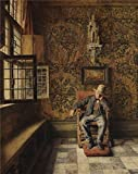 The High Quality Polyster Canvas Of Oil Painting 'Henri De Braekeleer - The Man In The Chair,about 1875' ,size: 16x20 Inch / 41x51 Cm ,this Cheap But High Quality Art Decorative Art Decorative Prints On Canvas Is Fit For Gym Decor And Home Decor And Gifts