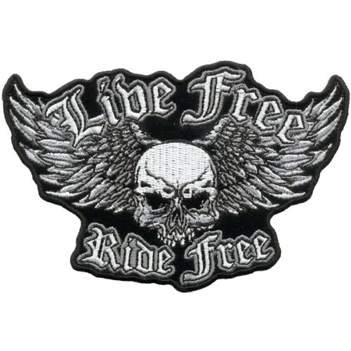 Hot Leathers Live Free Ride Free Wingmaster Patch (5