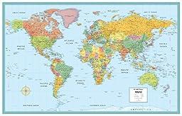 Rand McNally World Folded Wall Map (M Series Map of the World)