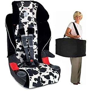Britax E9LC21Q Frontier 85 Combination Harness 2 Booster Seat In Cowmooflage With A Car Travel Bag Best Price