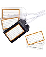 Standard Airport Luggage Identification Tag - Soft Vinyl (Pack of 3)